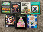 7 STAIN GLASS BOOKS Pattern Project Boxes Lamp Transomes