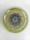 Beautiful Blue Yellow Perthshire Millefiori 3 Paperweight With P Cane Sticker