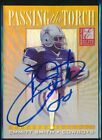 1999 DONRUSS ELITE EMMITT SMITH PASSING THE TORCH AUTO AUTOGRAPH SPECIAL EDITION