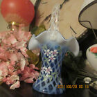 BEAUTIFUL FENTON VASE SIGNED STANDS ABOUT 9 1 2 TALL