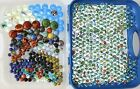 Huge Lot of Vintage Glass Marbles Toy Vacor 549 Total 8lbs Shooters Cats Eye