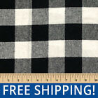 Black Buffalo Plaid Cotton Flannel Sold by Yard  Bolt FP37 Free Shipping