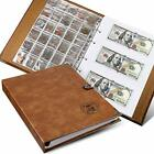 Coin Collecting Holder Album with 150 Coin Pockets and 240 Paper Currency Poc