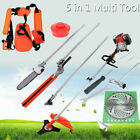 52cc 2 Stroke 5 in 1 Gas Straight Shaft String Trimmer Brush Cutter Weed Eater