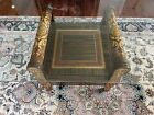Coffee Table Estate Sale Beautiful Asian Inspired Lacquer with large glass top