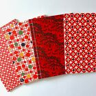 Japanese Gift Washi Journal 60 pages B5 Red Hand Dyed Katazome Chiyogami Yuzen