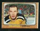 1966-67 Topps USA Test Hockey 37 Ted Green Bruins EXMT+ 21131