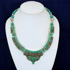 Turquoise stone tribal womens contemporary multi colored dragonfly necklace