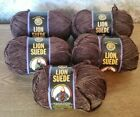 Lion Brand Lion Suede Yarn Coffee 3 Oz Each Lot Of 5 New In Wrapper