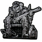 Moon shine cowboy Embroidered Biker Patch Iron on Sew on 9x9 Jackets