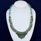 Inspired turquoise tribal womens handmade dragonfly Halloween jewelry necklace