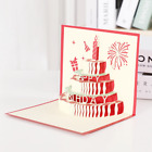 100 Happy Birthday Cake Pop Up Greeting Card Fathers Day Handmade Surprise Card