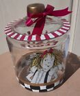 HAND PAINTED ELOISE COOKIE JAR GLASS BY KAY THOMPSON SLOANES HTF