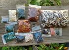 Lot Beads Semi Precious Stones Pearls coral Turquoise Amber Red Garnet 238 oz