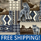 Southwest Native Wolf Fleece Fabric Sold by Yard  Bolt 50738 Free Shipping