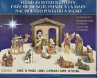 Rare Christmas Nativity Set Large Creche de Noel Holiday 13 Pieces Hand Painted