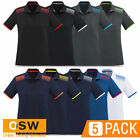 5 x Womens GALAXY Antibacterial Vent Casual Work Office Short Sleeve Polo Shirts