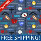 Hero Nurses Cotton Fabric Sold by The Yard  Bolt 10321 Free Shipping
