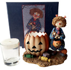 Lang Candles Halloween Friends Figural Candle Holder With Glass Insert NIB VHTF