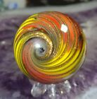 150 EXTREMELY TIGHT GOLD LUTZ CORKSCREW NEW CONTEMPORARY ART GLASS MARBLES