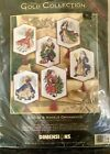 Dimensions 8568 Gold Collection Cross Stitch Christmas Santas  Angels Ornaments