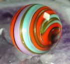 LOVELY ONE 159 NEW GOLD LUTZ CORKSCREW SWIRL CONTEMPORARY ART GLASS MARBLES