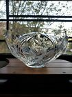Vintage Imperlux Crystal glass Rose Collection Cut Etched Heavy Bowl 9525