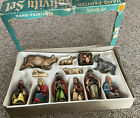 Vintage Antique 12 Piece Nativity Set Bavarian Forest Germany Hand Painted