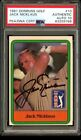1981 DONRUSS GOLF JACK NICKLAUS ROOKIE CARD SIGNED AUTO 10 PSA DNA AUTHENTIC