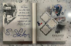 2009 Upper Deck Exquisite GAME USED ON CARD AUTO 99 Booklet WVU Texans