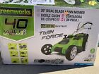 Greenworks 40V 20 inch Cordless Twin Force Lawn Mower With Batteries 35302