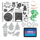 Hero Arts NOVEMBER 2020 MONTHLY KIT Stamps Dies Mask Ink Christmas Winter Layers