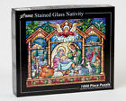 Vermont Christmas Company Jigsaw Puzzle Stained Glass Nativity VC135
