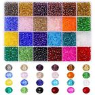 Suhome 4800pcs 24 Color 4mm Briolette Crystal Glass Beads Faceted Rondelle Sh