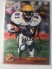1996 Classic NFL Rookies Terrell Owens #94 Rookie HOF ON CARD AUTOGRAPH 1 1