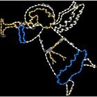 Nativity Angel With Horn Led Lights Large Outdoor Christmas Holiday Decoration
