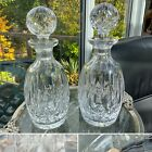 RARE PAIR SIGNED WATERFORD CRYSTAL LISMORE DECANTERS CUT GLASS CONNOISSEUR