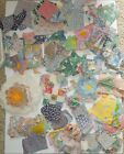 Huge Lot Vintage Feedsack Fabric Blocks Squares Pieces Over 200