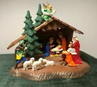 Vintage Plastic Nativity Set Made in West Germany