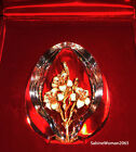 NEW in RED BOX STEUBEN glass EGG 18K GOLD ORNAMENT enamel crystal jewel faberge