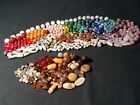 A++ Vintage COLORFUL MIXED ALL Millifiore FOIL Art Glass Stone Ceramic Bead Lot