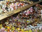 3 lbs A++ Vintage MIXED Millifiore Art AB Glass Stone Ceramic loose Bead Lot