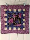 Handcrafted Quilted Table Runner Topper Set Wine Grapes 18x18 18x36
