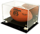 DELUXE ACRYLIC FOOTBALL DISPLAY CASE HOLDER MIRROR BACK
