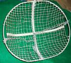 Industrial Wire Oval Hanging Basket With Chain Vintage 1222