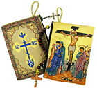 Easter Crucifixion Rosary Pouch Case Tapestry Crucifix