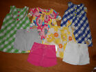 NEW CARTERS Little GIrls Cute Sweet Soft Summer Outfits 100% Cotton Sets 6 $132
