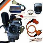 26mm GY6 150cc Carburetor Race CDI Coil Air Filter Carb