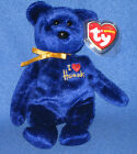 TY OMNIA the BEAR BEANIE BABY - I LOVE HARRODS EXCLUS