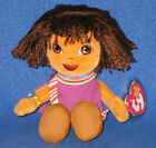 TY DORA the EXPLORER BEANIE BABY - TANZANIA VERSION - MINT with MINT TAG